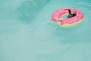Donut Float in Pool