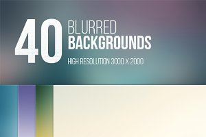 40 Blurred Backgrounds (3000x2000px)