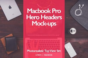 Macbook Pro Hero Headers Mock-ups