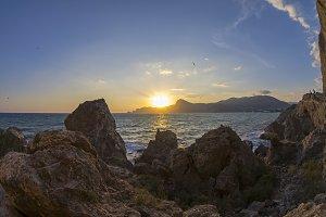 Sunset on the Black Sea. Crimea