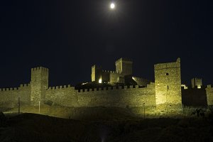 Genoese fortress at night. Crimea.