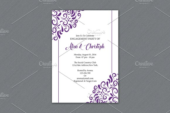 Engagement Party Invitation Template Invitation Templates on – Engagement Invitation Templates