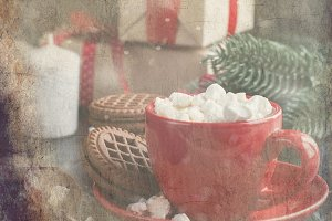 Hot chocolate and christmas gifts