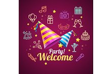 Party Invitation Birthday Card