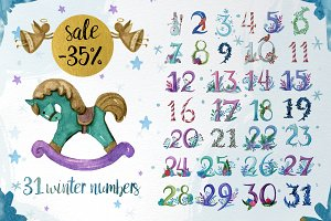 35 % off! Calendar winter numbers