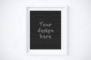 "White matted frame 8x10"" mockup"