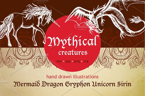Mythical Creatures Sketch Set