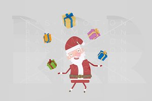 3d illustration. Santa Claus.