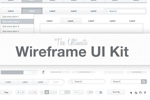 Ultimate Wireframe UI Kit