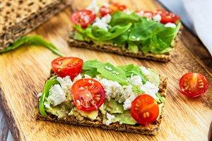 Wholegrain Rye Crispbread Crackers