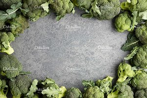 Broccoli on stone background