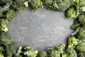 Broccoli on stone background