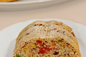 Fruitcake with candied fruit