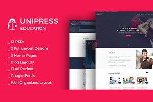 Unipress Education PSD Template