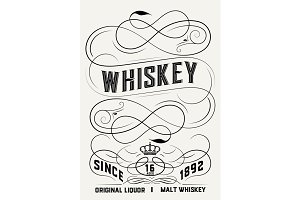 Whiskey label design