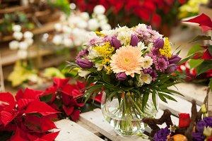 Bouquet in a flower shop