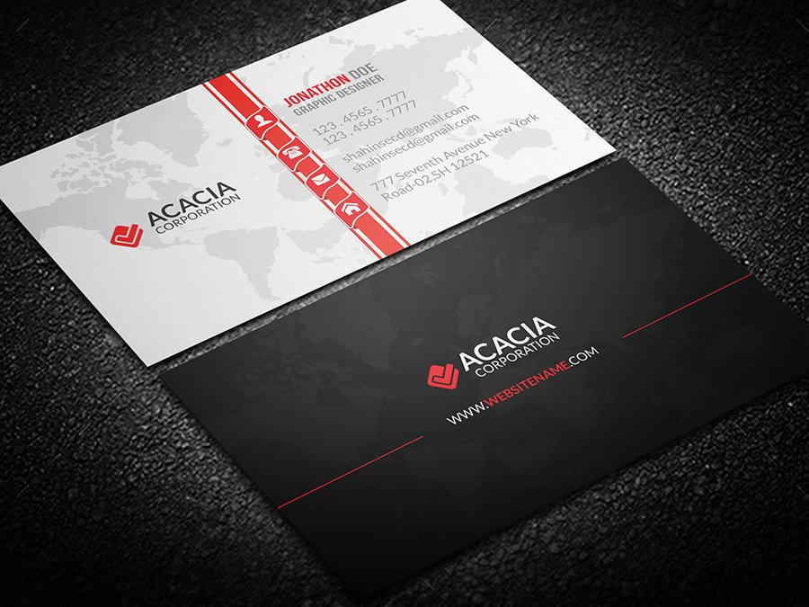 Map Business Card ~ Business Card Templates ~ Creative Market