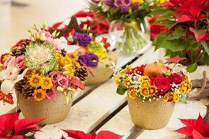 Floral arrangement in flower shop