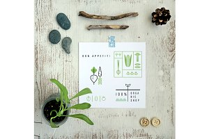 ECO cards. 12 templates