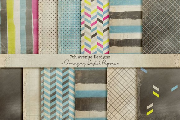 Amazing Digital Papers in Patterns