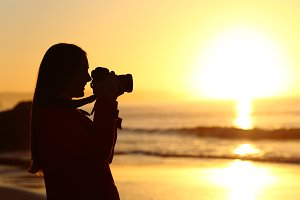 backlit photographer silhouette