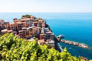 Scenic view of Cinque Terre