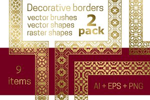 Decorative borders pack 2