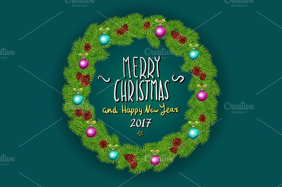 merry christmas and happy new year graphics