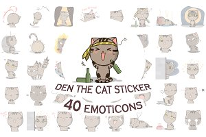 Den the cat sticker Megapack
