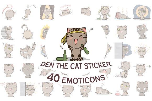 Den The Cat Sticker Megapack