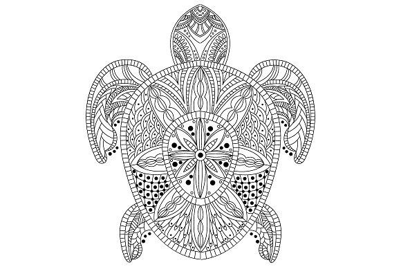 Turtle Zentangle Style