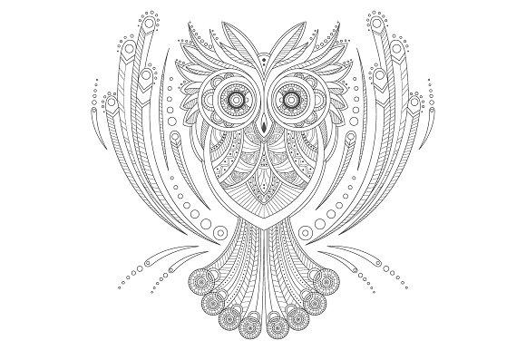 Zentangle Owl Coloring