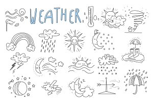 Hand drawn cartoon weather