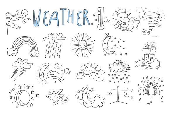 Hand Drawn Cartoon Weather