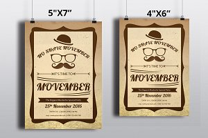 Movember Party Flyer -V444