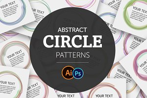 Abstract Circle Color Patterns set