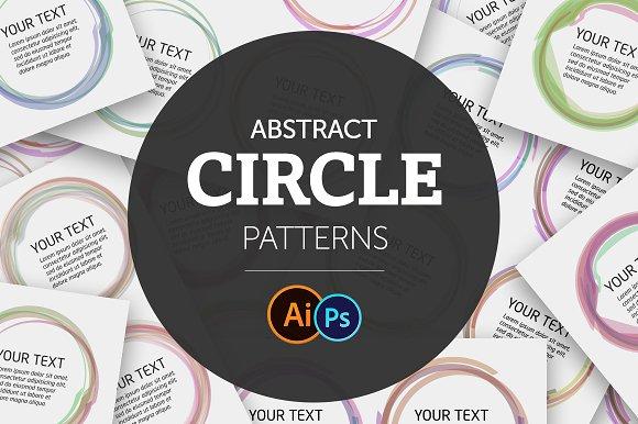 Abstract Circle Color Patterns Set