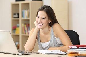 Happy student smiling