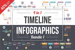 Timelines Infographics - Bundle 1