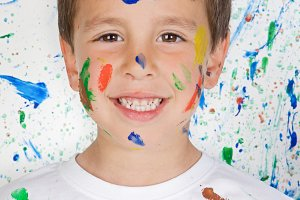 Beautiful child painted