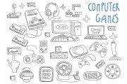 Computer games doodles