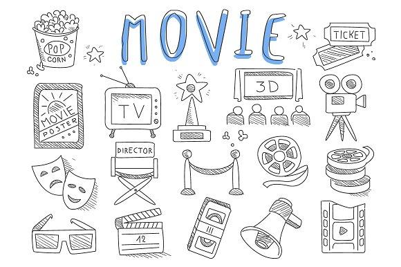 Cinema Doodles Set