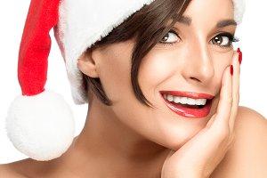 Beauty Christmas woman