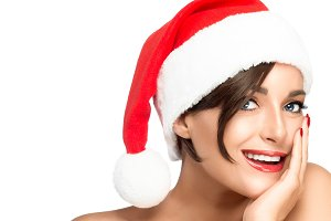 Beauty Christmas woman
