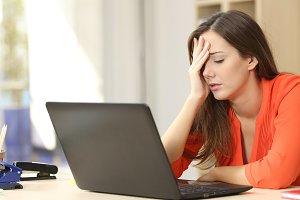 Tired overworked freelancer