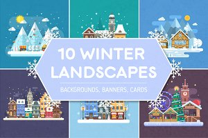 Winter Backgrounds and Landscapes