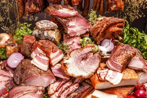 Smoked pork meat products