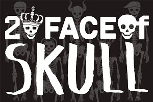 20 FACE OF SKULL