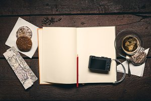 Camera on the notepad