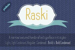 Raski Hand Drawn Font Family